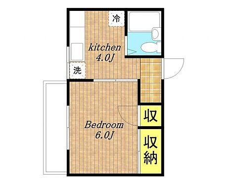 アパート-さいたま市南区内谷5丁目 1K間取り図