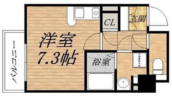マンション(建物一部)-大阪市中央区材木町 間取り
