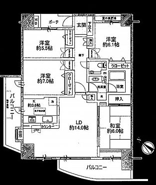 中古マンション-荒川区荒川8丁目 間取り