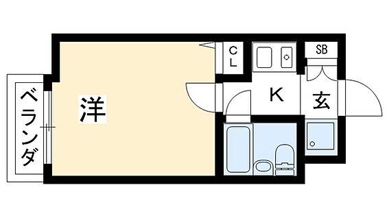 マンション(建物一部)-京都市上京区清元町 室内には洗濯置き場の他、収納がありひとり暮らしに便利