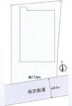 倉庫-東久留米市南沢5丁目 区画図