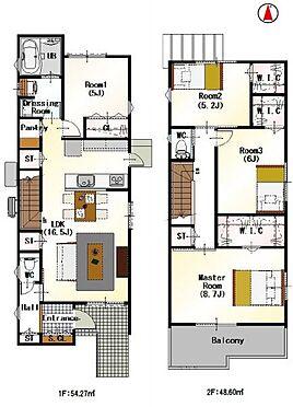 新築一戸建て-名古屋市名東区大針2丁目 間取りは生活のしやすさを重視。家族みんなが気持ちよく過ごすための構造と使いやすい間取りを実現。