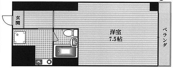 区分マンション-大阪市中央区博労町3丁目 間取り