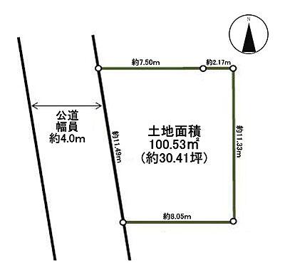 土地-練馬区関町南3丁目 区画図
