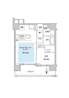 マンション(建物一部)-川口市芝新町 間口が広いプランなので、両方の部屋に明るい光が入ります