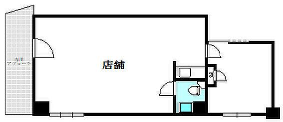 店舗事務所(建物一部)-福岡市中央区薬院3丁目 間取り