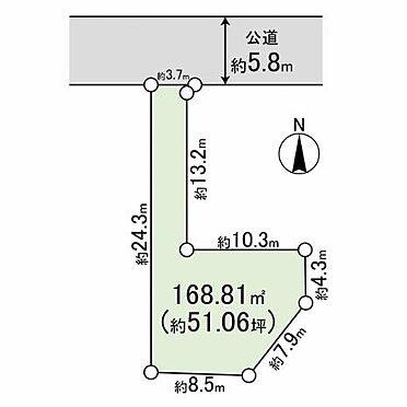 土地-平塚市代官町 区画図