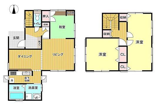 戸建賃貸-刈谷市野田町西田 3LDK 2階居室は仕切り可能!