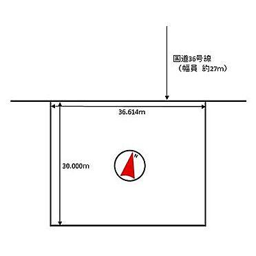 土地-苫小牧市有明町2丁目 区画図