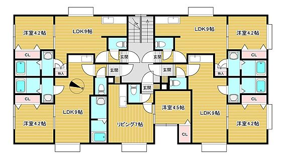アパート-札幌市白石区栄通21丁目 間取り