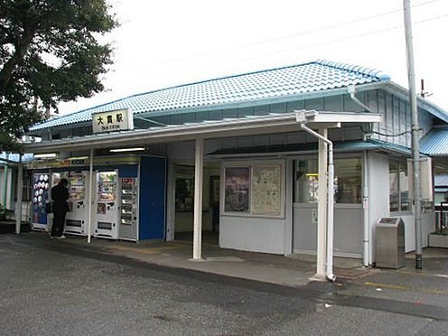 土地-富津市岩瀬 内房線『大貫』駅まで徒歩9分。急行も停車し、乗降利用者も多い駅です。