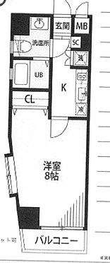 中古マンション-新宿区中落合1丁目 間取り