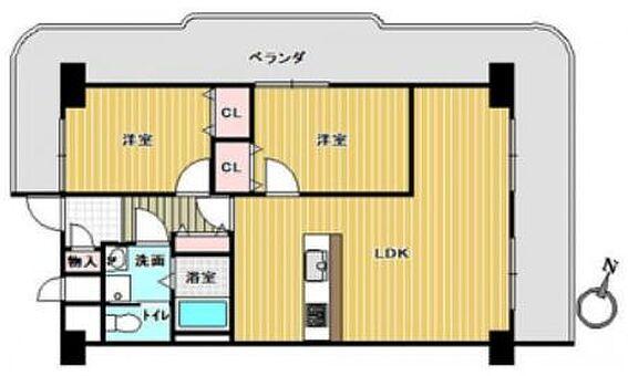 マンション(建物一部)-大阪市西区土佐堀3丁目 人気の角部屋