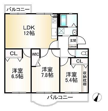 中古マンション-神戸市須磨区神の谷7丁目 間取り