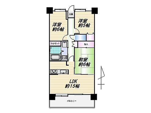 中古マンション-仙台市太白区富沢3丁目 間取り