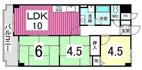 マンション(建物一部)-神戸市長田区苅藻通2丁目 3DKでファミリー世帯にもオススメの間取り。