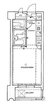 マンション(建物一部)-福岡市中央区平尾1丁目 水まわりと居室をわけたシンプルなプラン