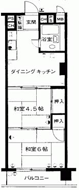 マンション(建物一部)-千葉市稲毛区小仲台6丁目 間取り