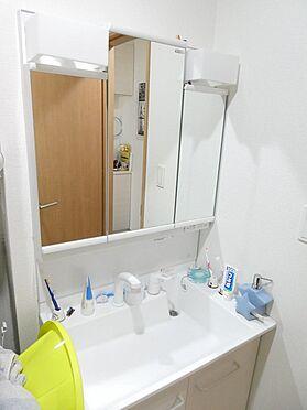戸建賃貸-足立区大谷田1丁目 三面鏡付洗面化粧台(ハンドシャワー付き)