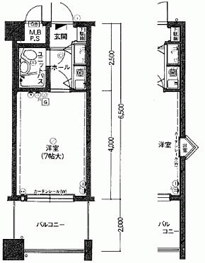 マンション(建物一部)-福岡市中央区荒戸2丁目 間取り