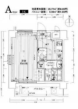 区分マンション-大阪市淀川区西中島2丁目 間取り