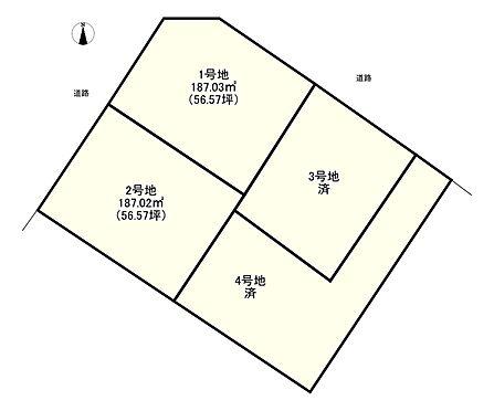 土地-姫路市広畑区蒲田5丁目 区画図