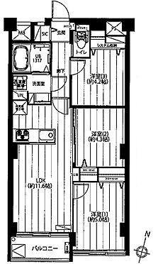 中古マンション-川崎市多摩区枡形3丁目 間取り