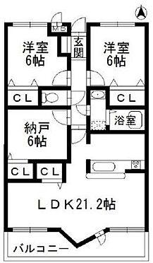 マンション(建物一部)-神戸市北区山田町下谷上字門口 収納に便利なサービスルーム付き