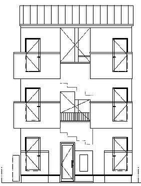 アパート-名古屋市中川区百船町 北立面図