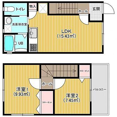 アパート-福岡市東区水谷1丁目 2LDK間取り