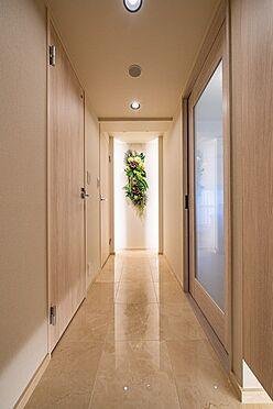 中古マンション-港区芝大門1丁目 大理石貼りの玄関・廊下