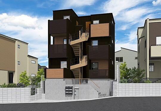 アパート-新座市栗原3丁目 建物完成予想イメージパース