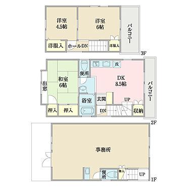 店舗付住宅(建物全部)-大田区中央3丁目 間取り