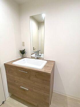 区分マンション-横浜市磯子区氷取沢町 シンプルな洗面台