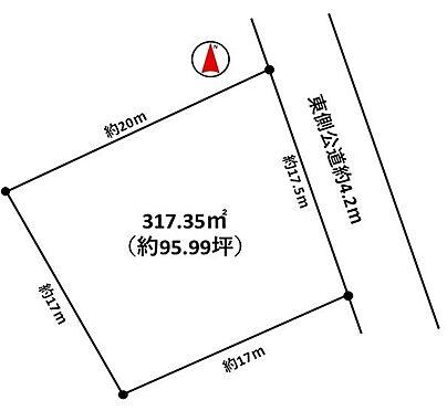 土地-岡崎市伊賀町字4丁目 区画図