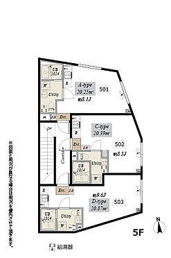 マンション(建物全部)-板橋区坂下2丁目 5階間取図
