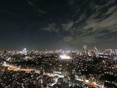 中古マンション-港区白金1丁目 リビングからの眺望(夜景 北西方面)