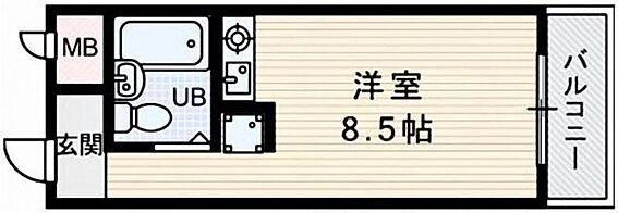 区分マンション-大阪市東淀川区淡路3丁目 間取り