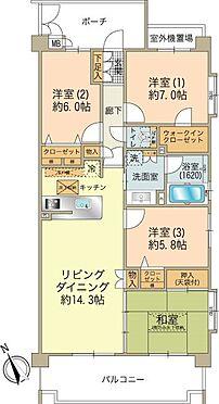 中古マンション-八王子市松木 ■専有面積92.16m2の4LDKです。