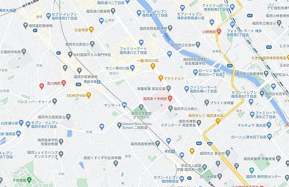区分マンション-福岡市南区高宮1丁目 地図