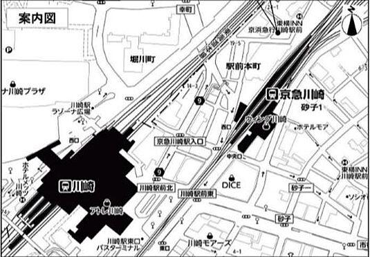 ビル(建物全部)-川崎市川崎区駅前本町 地図