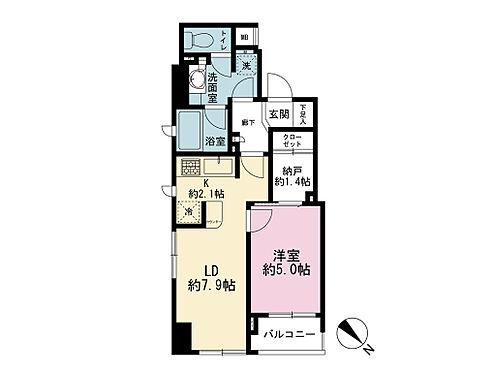 マンション(建物全部)-中央区月島2丁目 間取り