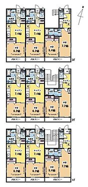 マンション(建物全部)-松戸市稔台7丁目 マナ・ハピネス1DK×6部屋2K×3部屋