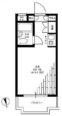 マンション(建物一部)-新宿区原町3丁目 専有面積22.11平米のワンルームマンションです