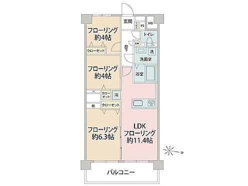 中古マンション-品川区東品川3丁目 理想的な3LDKで人気のあるお部屋です。南向きで両面バルコニーである事、間取りに無駄がありません