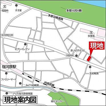 マンション(建物一部)-川崎市多摩区宿河原5丁目 案内図