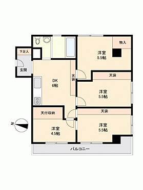 マンション(建物一部)-さいたま市北区奈良町 間取り