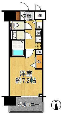 区分マンション-大阪市中央区和泉町1丁目 間取り