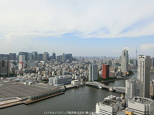 中古マンション-中央区勝どき5丁目 築地・銀座・丸の内方面・東京スカイツリー一望の眺望