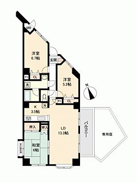 マンション(建物一部)-千葉市中央区都町 間取り